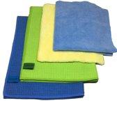 Microvezel droogdoek Set 2 droogdoeken + 2 Microvezel schoonmaakdoeken