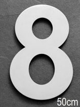 Xaptovi Huisnummer 8 Materiaal: RVS - Hoogte: 50cm - Kleur: RVS
