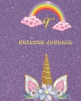 Unicorn Journal T: Activity book for the writing and drawing for girls with your favorite character