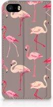Apple iPhone 5 | 5S | SE Uniek Hoesje Flamingo's