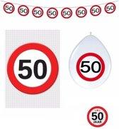 50 jaar verkeersbord versiering basis set - 50ste verjaardag decoratie