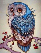 Diamond Painting Pakket Blauwe Uil - Volledig - 30x40 cm - SEOS Shop ®