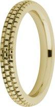Melano friends sarah refined engraved ring - goudkleurig - dames - maat 48