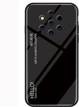 Let op type!! Gradiënt kleur glas beschermhoes voor Nokia 9 (zwart)