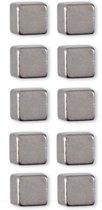 Trendform magneten vierkant cube zilver (per 10)