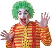 Voordelige groene clownspruik voor volwassenen