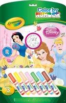 Crayola Kleuren op Nummer - Prinsessen Kleurboek met 7 Stiften