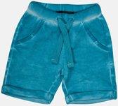 Minymo - jongens korte sweat broek - blauw - Maat 74