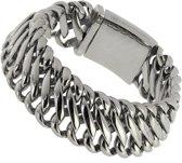 """Bukovsky - Stalen Armband - """"Elegance Small"""" - 17 cm - Junior - Zilverkleur - Gepolijst Staal - Edelstaal - 316L Stainless Steel"""