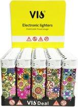 Klik aanstekers -50 in tray navulbaar- electronic aansteker - lighters 50pcs