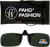 Fako Fashion® - Clip On Voorzet Zonnebril - Polarized - 128x40mm - Groen