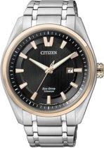 Citizen Super Titanium - Horloge - Titanium - 42 mm - Bicolor / Zwart - Solar uurwerk
