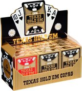 Copag Texas Hold'em Gold Plastic Pokerkaarten - Jumbo Index - Display