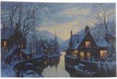 Led Schilderij Artprint Huis Warm Wit
