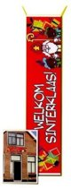 Straat / gevel banner welkom Sinterklaas 206x80 cm