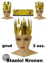 Staniol kroon goud