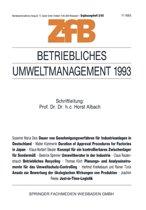 Betriebliches Umweltmanagement 1993
