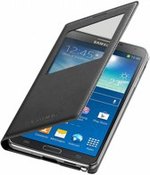 Samsung Galaxy Note 3 S View Case, Stijlvolle Hoes, Flip Cover, zwart , merk i12Cover
