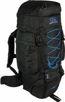 Highlander Rambler - Backpack - 66 Liter - Blauw Zwart