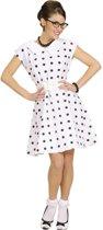 """""""Witte jaren 50, retro jurk voor dames  - Verkleedkleding - Large"""""""