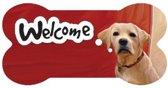 bordje - welcome - beige Labrador