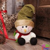 Pluche Sneeuwpop Groen
