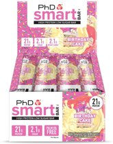 PhD - Smart Bar - Birthday Cake (12x64g)