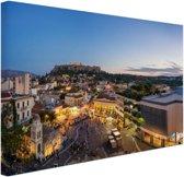 FotoCadeau.nl - Monastiraki Athene Canvas 60x40 cm - Foto print op Canvas schilderij (Wanddecoratie)