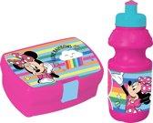Diakakis Lunchset Minnie Mouse Broodtrommel Met Beker Roze