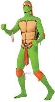 2nd Skin TMNT Michelangelo - Kostuum Volwassenen - Maat M - 48/50