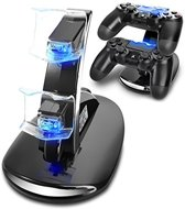 OTVD - Dualshock PlayStation Dubbel Docking Station (PS4) - Met Led Verlichting