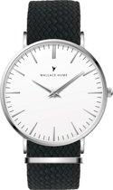 Wallace Hume Klassiek Wit - Horloge - Perlon - Zwart