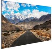 FotoCadeau.nl - Eindeloze weg richting de Himalaya Aluminium 90x60 cm - Foto print op Aluminium (metaal wanddecoratie)