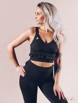 Sport Top Dames Zwart - Workout Empire Frill Bra