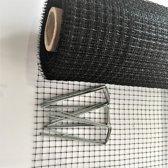 200 M² mollengaas (2x100M) + 100 gronddoekpennen - mollennetten - mollennet