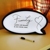 Speech Bubble LED Lightbox - Praatwolk lamp | Pride Kings®