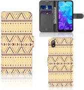 Huawei Y5 (2019) Telefoon Hoesje Aztec Yellow