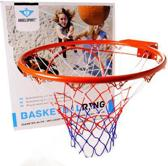 Angel Sports - Basketbal ring oranje - inclusief net