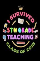 I Survived 5th Grade Teaching Class of 2018