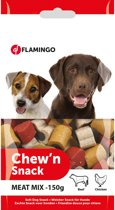 Flamingo Hondensnack Chew n Snack Meat Mix - 2 x 1 x 1 cm