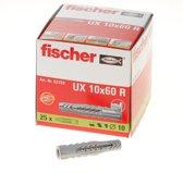 Fischer Universeelplug U x 10 x 60R - 25 Stuks