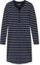 Dames Sleepshirt - Donkerblauw - R Hals