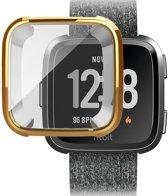 KELERINO. Full cover hoesje voor Fitbit Versa (Lite) - Siliconen - Goud