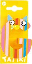 Tatiri Houten letter: dierenalfabet g geel