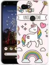 Google Pixel 3a XL Hoesje Unicorn Time
