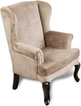 FAUTEUIL - VELOURS TAUPE 49*47*75
