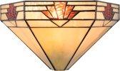 Wandlamp Tiffany 31*15*17 cm / E14 / Max. 1x40 Watt Multi | 5LL-5213 | Clayre & Eef