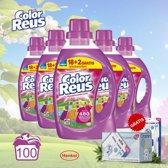 Color Reus Vloeibaar Wasmiddel Kleur - 5 Pack 20 Wasbeurten - Gratis Oramint Oral Care Kit