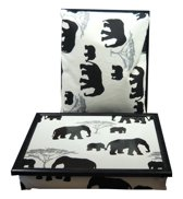 Margot Steel laptray/schoottafel Olifant - 41 x 31 10 cm