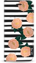 Casetastic Wallet Case Black Samsung Galaxy A8 (2018) - Striped Winter Flowers